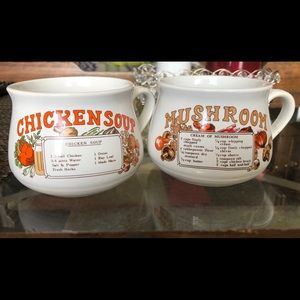 Other - Vintage recipe soup mugs